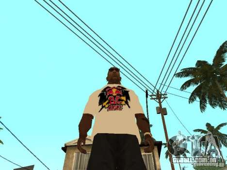 T-Shirt Red Bull para GTA San Andreas terceira tela