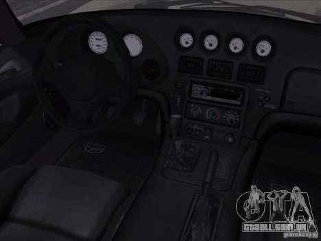 Dodge Viper para GTA San Andreas vista superior