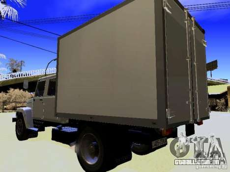 GAZ 3309 Huntsman para GTA San Andreas traseira esquerda vista