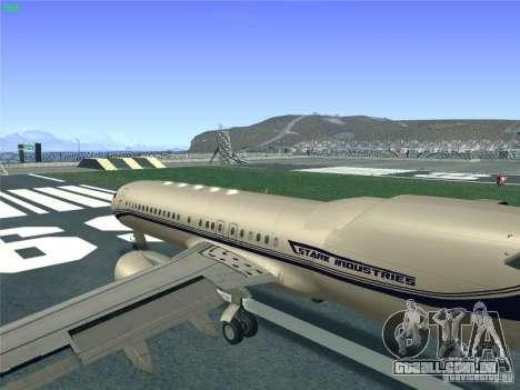 Boeing 737 Iron Man Bussines Jet para GTA San Andreas vista interior