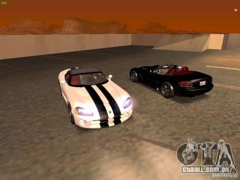 Dodge Viper SRT-10 Roadster para vista lateral GTA San Andreas