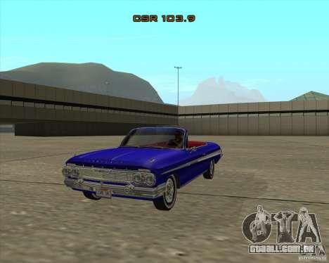 Chevrolet Impala SS 1961 para GTA San Andreas vista direita
