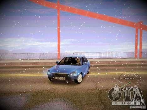 Lada Priora Turbo v2.0 para GTA San Andreas vista interior
