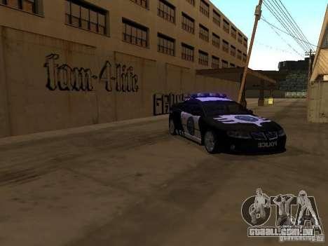Pontiac GTO Police para GTA San Andreas esquerda vista
