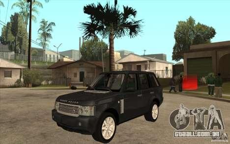 Range Rover Supercharged 2008 para GTA San Andreas