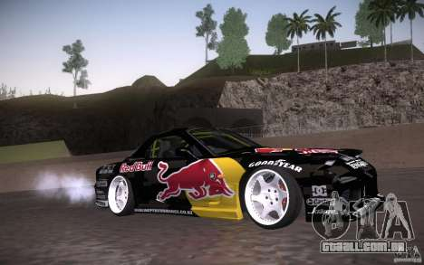Mazda RX7 Madmikes Redbull para GTA San Andreas vista interior
