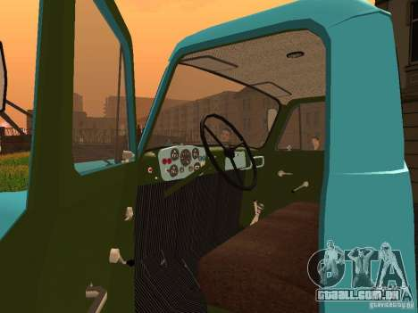 GAZ-53 tanque de leite para GTA San Andreas vista traseira