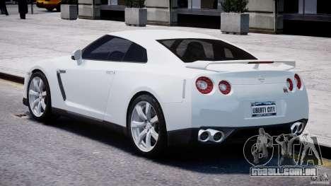 Nissan Skyline GT-R R35 para GTA 4 traseira esquerda vista