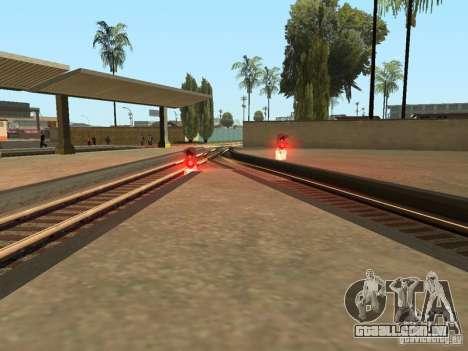Luzes de tráfego ferroviário para GTA San Andreas sexta tela