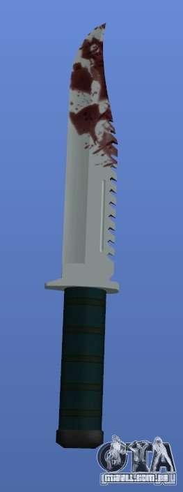 Bloody Knife V1.1 para GTA 4 terceira tela