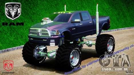 Dodge Ram 3500 2010 Monster Bigfut para GTA 4