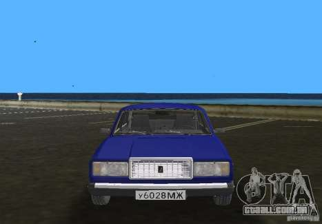 Carro LADA 2107 VAZ para GTA Vice City vista traseira
