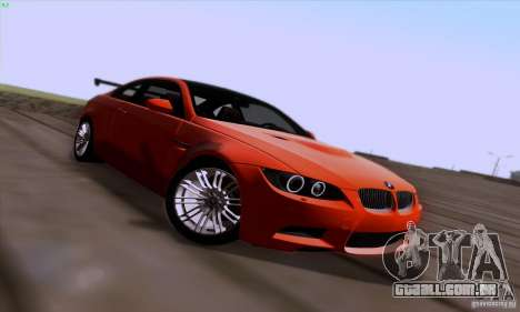 BMW M3 E92 v1.0 para GTA San Andreas vista superior