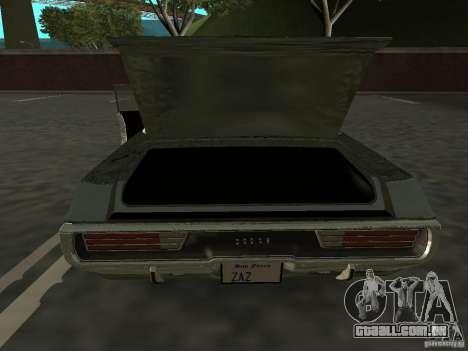 Dodge Polara Police 1971 para GTA San Andreas vista direita