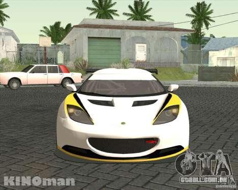 Lotus Evora Type 124 para GTA San Andreas vista direita