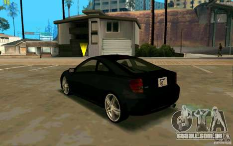 Toyota Celica 2005 para GTA San Andreas traseira esquerda vista
