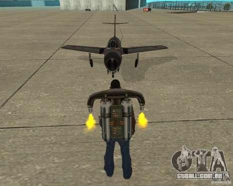 MIG 15 URSS para GTA San Andreas vista traseira