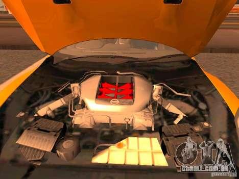 Nissan GT-R SpecV Black Revel para GTA San Andreas vista traseira