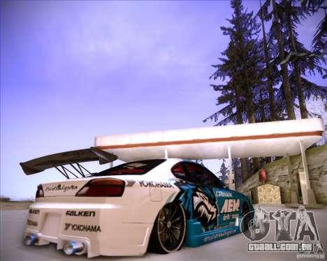 Nissan Silvia S15 Blue Tiger para GTA San Andreas traseira esquerda vista