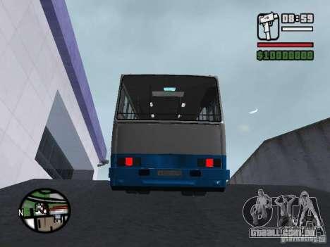 Segurança Ikarus 260 para GTA San Andreas vista interior