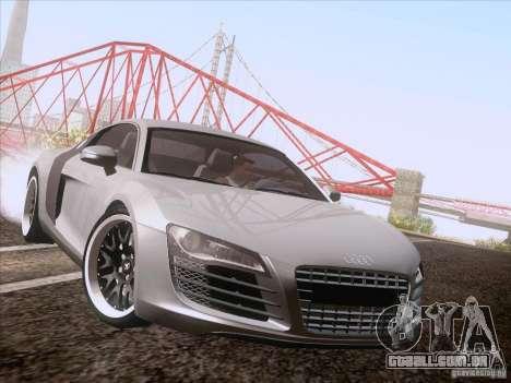 Audi R8 Hamann para GTA San Andreas traseira esquerda vista