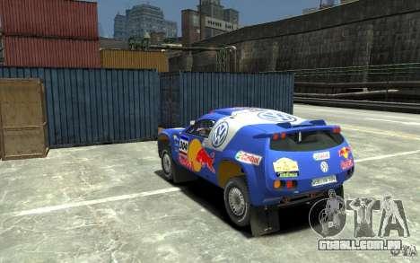 Volkswagen Touareg Rally para GTA 4 traseira esquerda vista