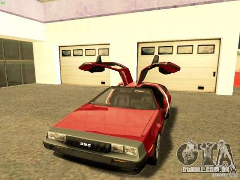 DeLorean DMC-12 V8 para GTA San Andreas vista direita