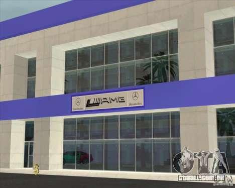 AMG showroom para GTA San Andreas segunda tela