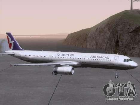 Airbus A321 Air Macau para GTA San Andreas vista superior
