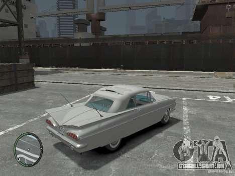 Chevrolet Impala 1959 Soupe para GTA 4 vista direita