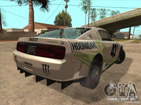 Ford Mustang Ken Block para GTA San Andreas traseira esquerda vista