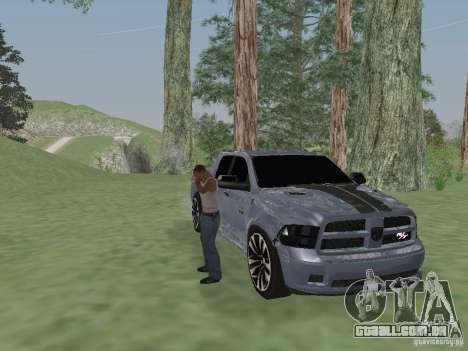 Dodge Ram R/T 2011 para GTA San Andreas traseira esquerda vista
