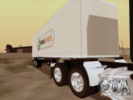Caband trailer para GTA San Andreas esquerda vista