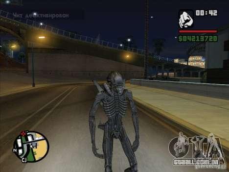 Alien Xenomorph para GTA San Andreas quinto tela