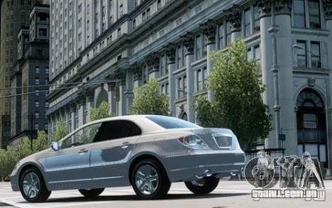 Acura RL 2006 para GTA 4 traseira esquerda vista