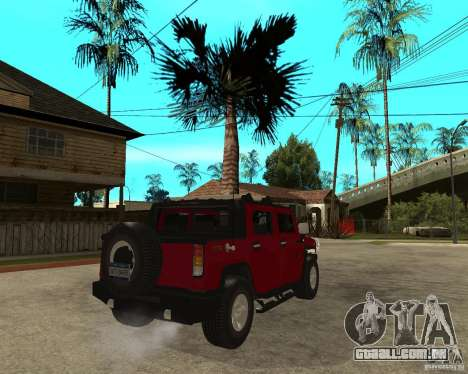 AMG H2 HUMMER SUT para GTA San Andreas