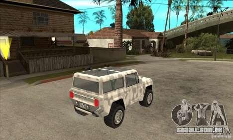 Ford Bronco Concept para GTA San Andreas vista direita