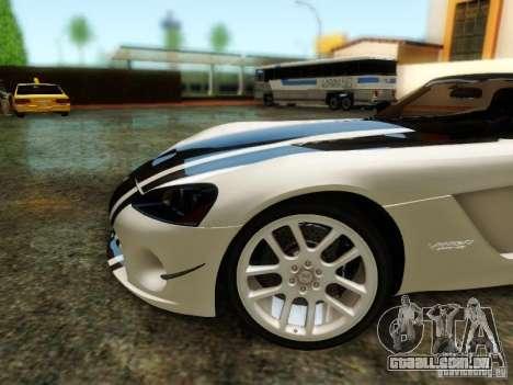 Dodge Viper SRT-10 Roadster ACR 2004 para GTA San Andreas vista superior