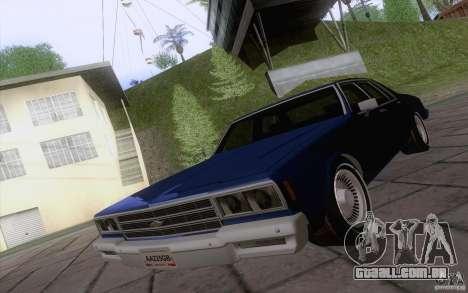 Chevrolet Caprice Clasico para GTA San Andreas esquerda vista