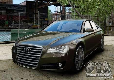 Audi A8 (D4, Typ 4H) 2010 Alpha para GTA 4