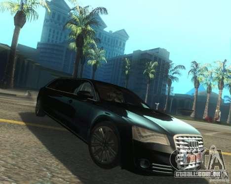 Audi A8 2011 Limo para GTA San Andreas vista direita