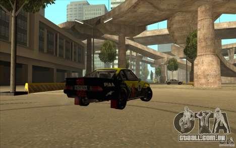 Opel Manta 400 para GTA San Andreas traseira esquerda vista