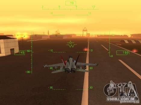Aviação HUD para GTA San Andreas por diante tela