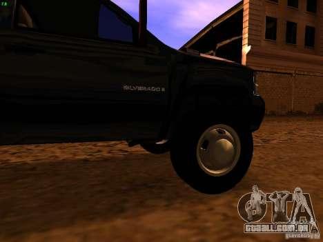 Chevrolet Silverado HD 3500 2012 para GTA San Andreas vista traseira