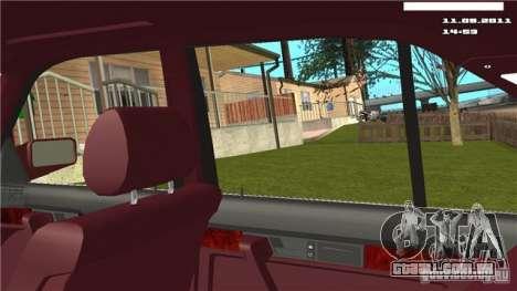 Câmera de primeira pessoa no carro para GTA San Andreas terceira tela