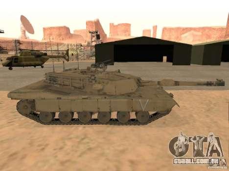 Abrams M1A2 para GTA San Andreas traseira esquerda vista