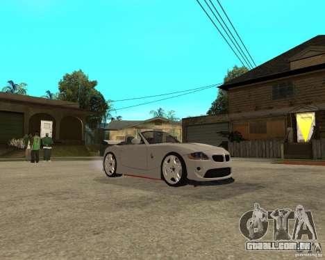 BMW Z4 Supreme Pimp TUNING volume II para GTA San Andreas vista traseira