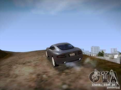 Aston Martin DB9 para GTA San Andreas vista superior