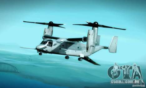 MV-22 Osprey para GTA San Andreas vista inferior