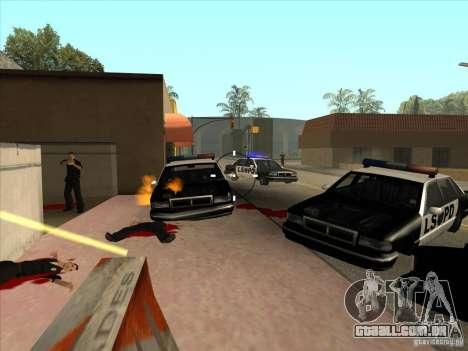 O script CLEO: metralhadora no GTA San Andreas para GTA San Andreas segunda tela